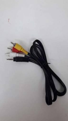 Cable de audio y vídeo conector jack a triple RCA