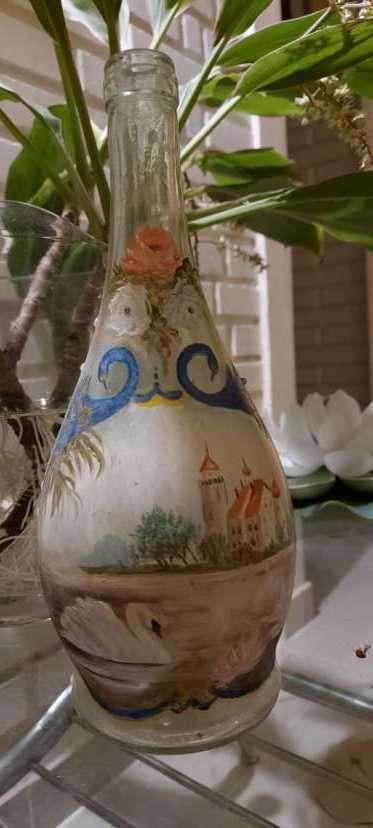 Botellas pintadas para decoración - 6