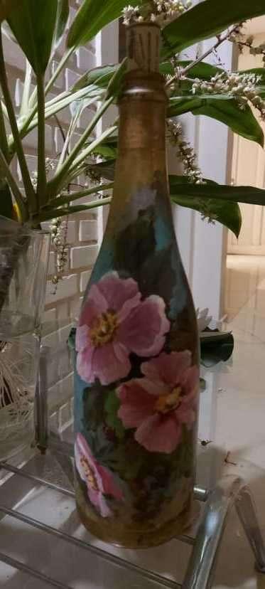 Botellas pintadas para decoración - 7
