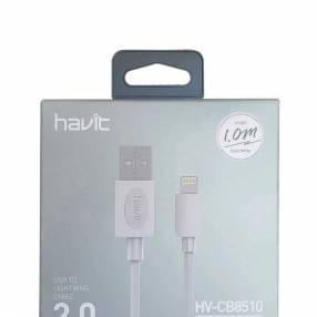 Cable havit cb8510 usb lightning blanco