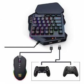 Teclado mecanico rgb gaming 3en 1 c/mouse y mouse pad