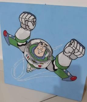 Cuadro de Buzz Lightyear sobre madera
