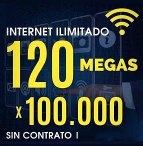 Internet ilimitado 120 Megas
