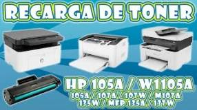 Recarga a domicilio de tóner HP105A para HP 107W 135W y 137W