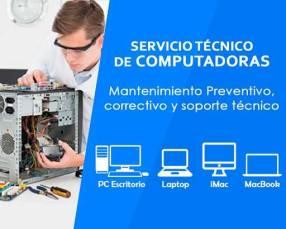 Servicio técnico de computadoras de escritorio y notebook.