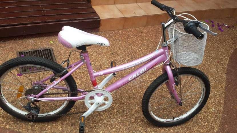Bicicleta Caloi aro 20 color rosa - 1