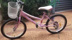 Bicicleta Caloi aro 20 color rosa