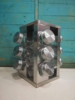 Especieros giratorios de acero inoxidable