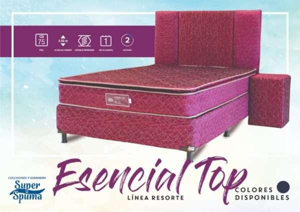 Somier esencial top 1,60 x 2.00 soporta 75kg super spuma - 0