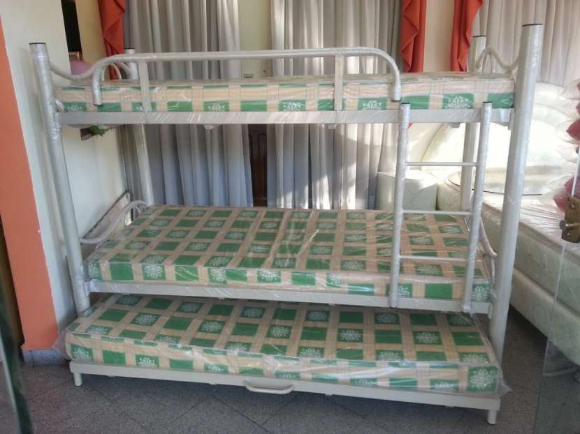 Cama doble con auxiliar 100x190 sin colchón - 0