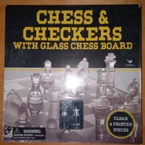 Juego de ajedrez tablero de vidrio