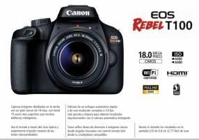 Cámara Canon EOS Rebel T100 Kit 18-55mm