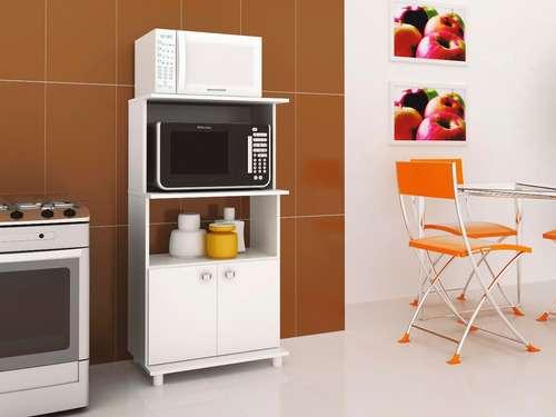 Balcón para horno y microondas bl3301 blanco - 3
