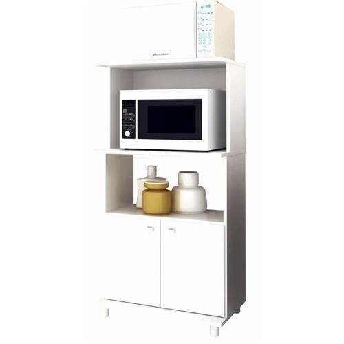 Balcón para horno y microondas bl3301 blanco - 4