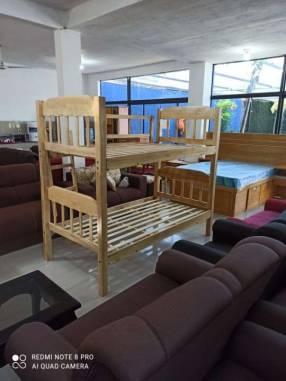 Cama de 2 pisos 100x190 de madera (740)