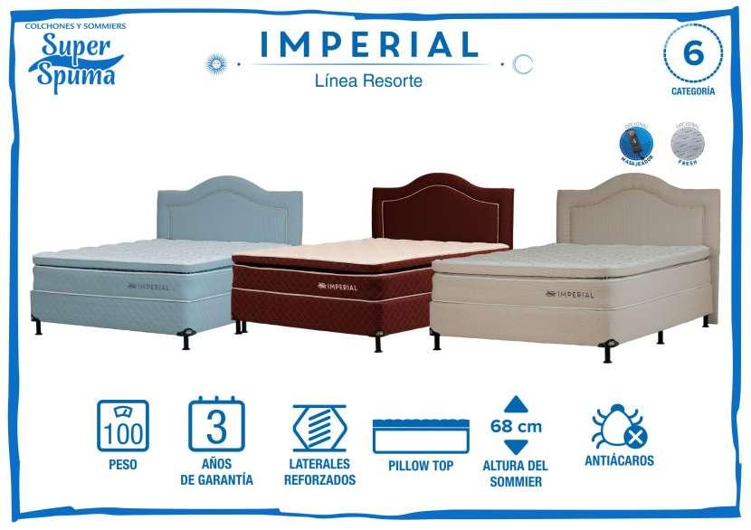 Somier imperial 1,60 x 2,00 soporta 100k super spuma - 0