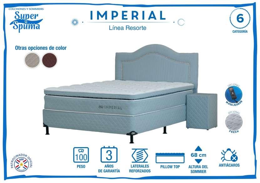 Somier imperial 1,80 x 2,00 soporta 100k super spuma - 1