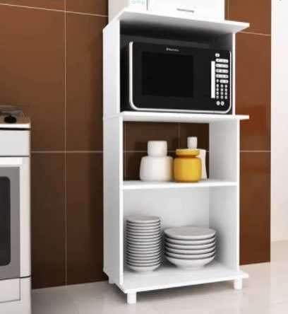 Balcón para horno y microondas bl3301 blanco - 0