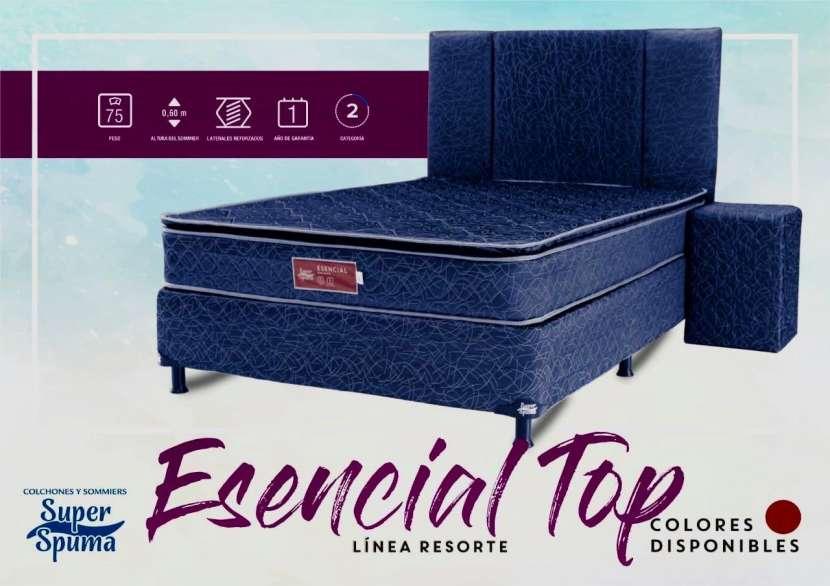 Somier esencial top 1,60 x 2.00 soporta 75kg super spuma - 1