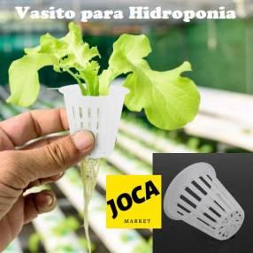Vaso de plástico para sistema hidropónico