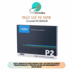 Disco SSD M2 NVME 500GB Crucial P2