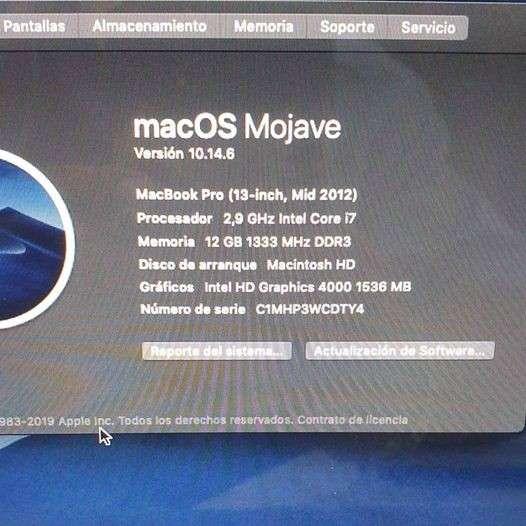 MacBook Pro 2012 Core i7 - 3