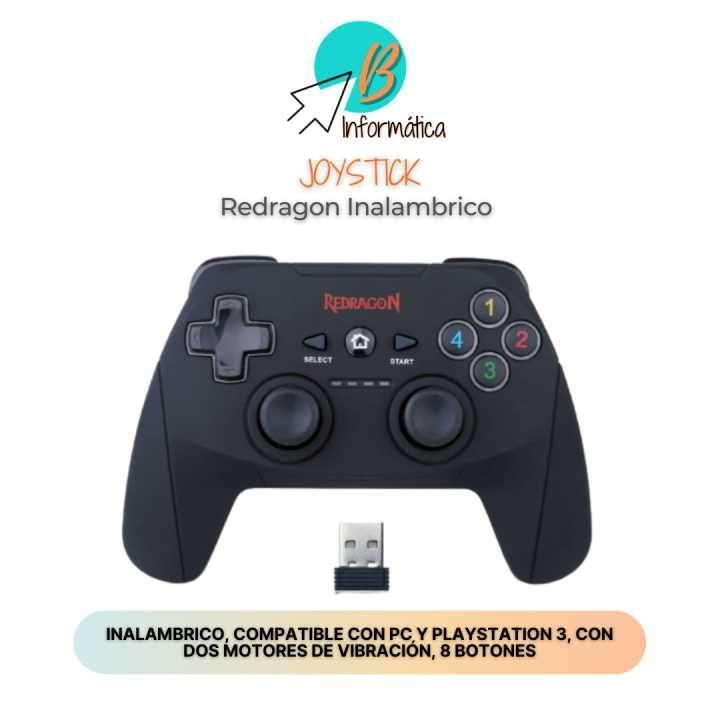 Joystick inalámbrico para PlayStation 3 y PC Redragon - 0