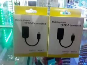 Cable OTG para celular con entrada tipo C