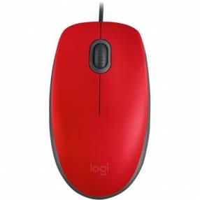 Mouse Logit 910-005492 M110 USB Rojo