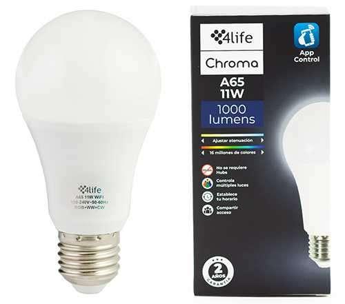 Lámpara inteligente RGB 4life Chroma A65 11W - 1