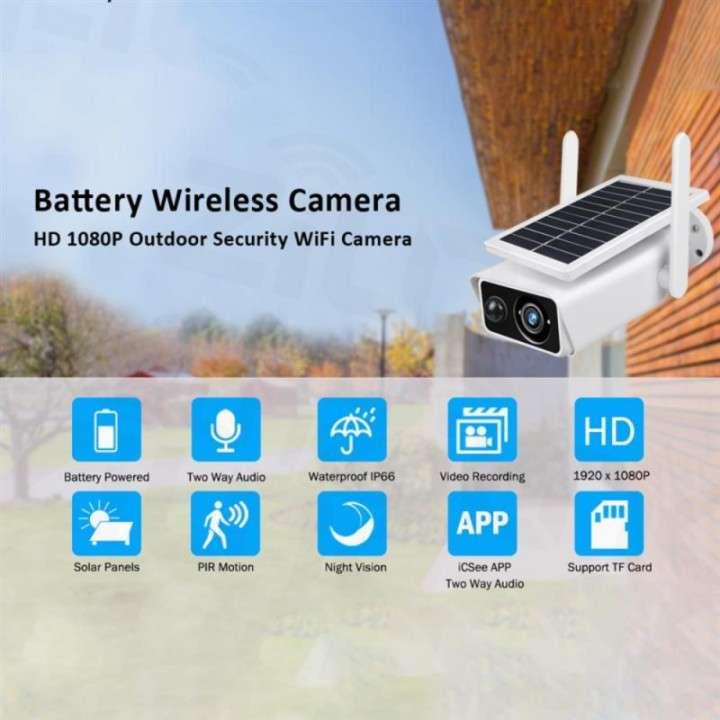 Cámara solar IP 1080p IP66 con sensor de movimiento - 1