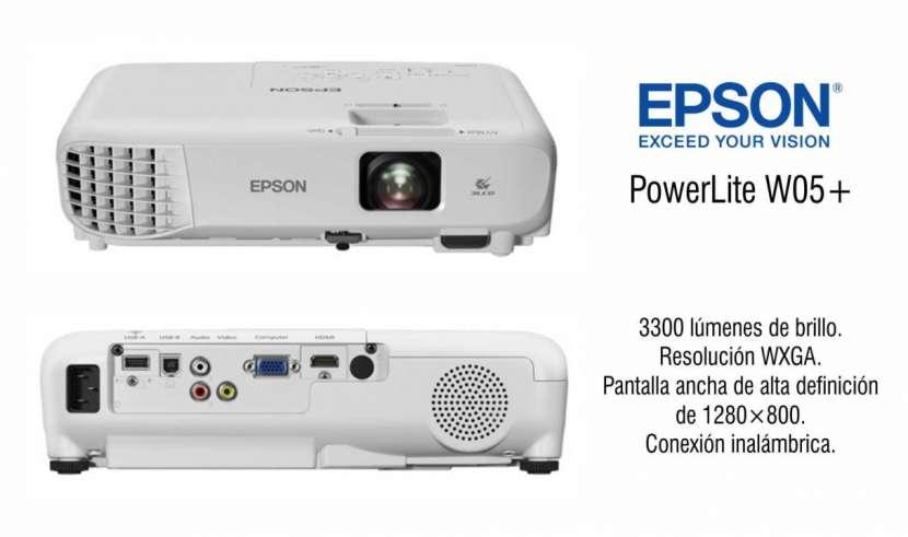 Proyector Epson PowerLite W05+ 3300 kúmenes - 0