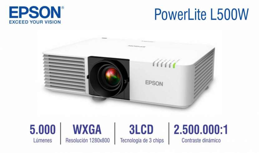 Proyector Epson PowerLite L500W 5000 lúmenes - 0
