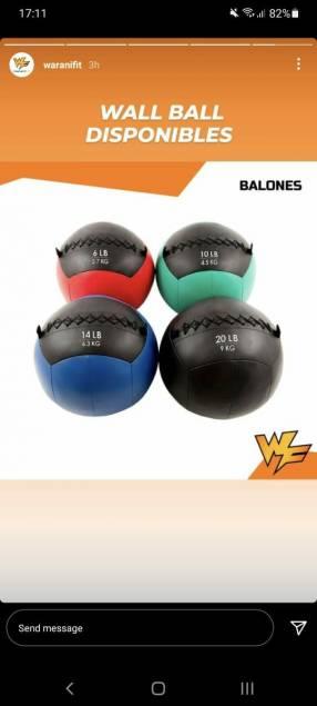 Wall balls nacionales e importados
