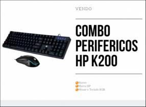 Teclado y mouse HP K200