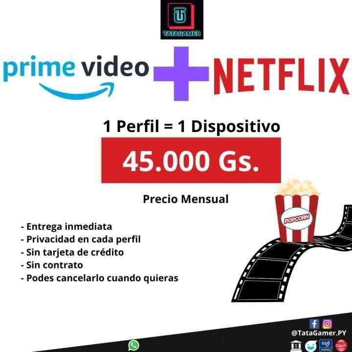 Cuenta Prime Video + Netflix - 0
