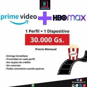 Cuenta Prime Video + HBO MAX