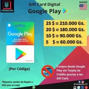 Gift Card Google Play USA