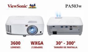 Proyector ViewSonic PA503w 3600 lúmenes