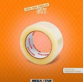 Caja de cinta transparente de 100 metros