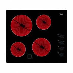 Anafe 4 hornallas eléctrico vitrocerámico con perillas Whirlpool