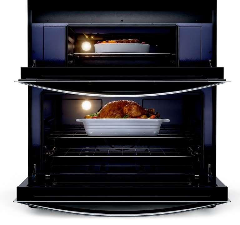Cocina 5 hornallas inox doble horno Whirlpool - 1