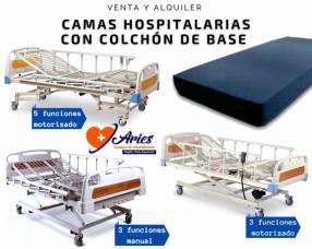Camas hospitalarias manuales y motorizadas