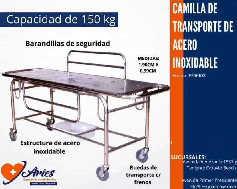 Camilla de transporte con soporte lateral de acero inoxidable - 0