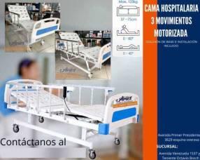 Cama hospitalaria americana motorizada