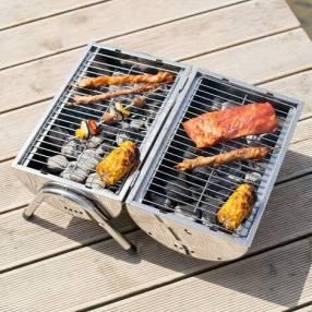 Parrilla grill inox portatil