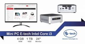 Mini PC E-tech Intel Core i3