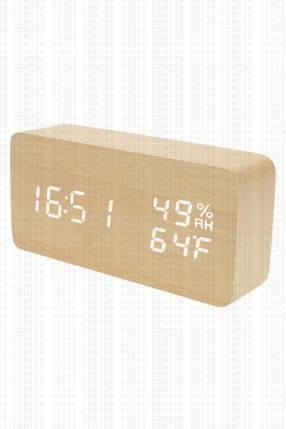 Reloj Digital de Bambú