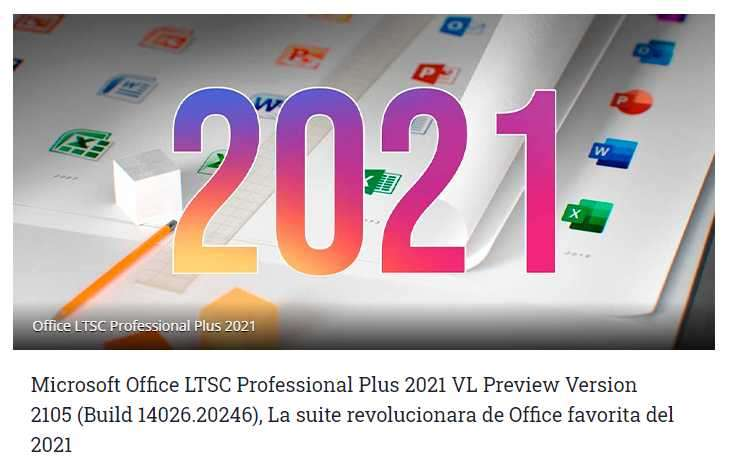 Microsoft Office LTSC Profesional Plus 2021 VL - 1