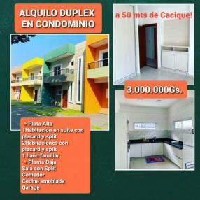 Duplex a 50 mts de Cacique Lambaré